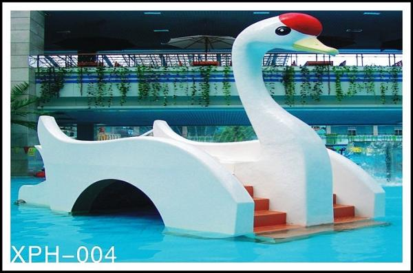 Quality Water Park Equipment Small Swan Kids Water Slide, Fiberglass Water Pool Slides For Kids for sale