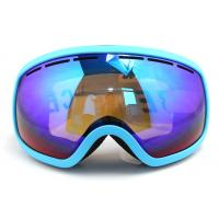 China Quick Interchangeable Double Lens Mirrored Anti Fog Ski Goggles Helmet Compatible wholesale