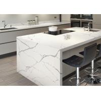 China Modern Style Man Made Quartz Kitchen Countertops And Island Eased Edge wholesale
