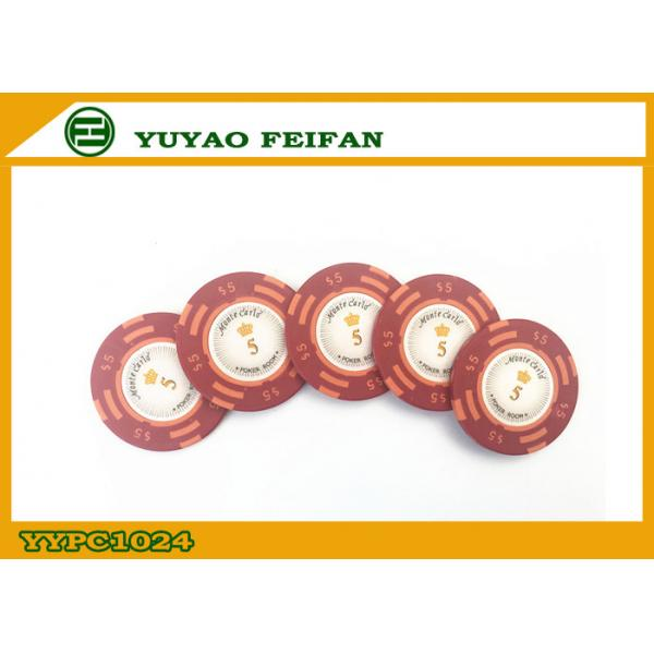Quality Casino Quality Custom Clay Poker Chips With Two Side Stickers for sale