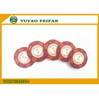 China Casino Quality Custom Clay Poker Chips With Two Side Stickers wholesale