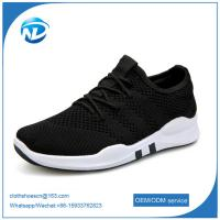 China factory price cheap shoes 2019 New Design Lace-up Textile Fabric Men Sport Running Shoes on sale