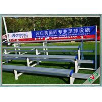 Indoor / Outdoor Soccer Field Equipment Grandstand Bleacher Seats Retractable