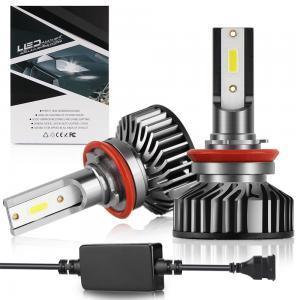 China 6000LM Black Led Car Headlight Bulbs 360° Beam Angle DC 12-24V Operating Voltage wholesale