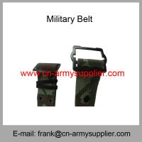 China Wholesale Cheap China Military PP Camouflage Army Metal Buckle Police Belt wholesale