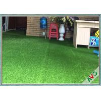 China Natural Appearance Outdoor / Indoor Synthetic Grass W Shape Monofil PE + Curled PPE wholesale