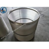 China Reverse Support Rod Rotary Screen Drum Stainless Steel With Falt Iron wholesale