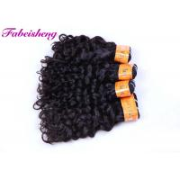 China Double Drawn 100 % Curly Virgin Malaysian Hair Extensions Italian Wave wholesale