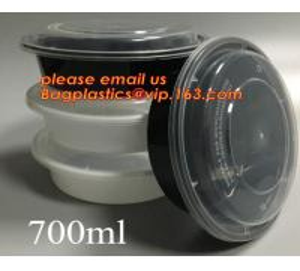 China white disposable plastic salad bowl,PLA 16oz 500ml plastic - disposable salad bowl with lid,PP disposable clear plastic wholesale
