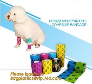 China Cohesive Flexible Bandage Cotton Cohesive Bandage sports tape Mixed Color Self Adhesive elastic bandage bagplastics pac wholesale