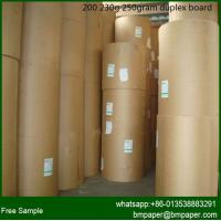 China duplex board paper/ grey back / gift wrapping paper / paper price per ton wholesale