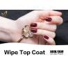 China Soak Off  Wipe UV Top Coat Gel 15ml Transparent Natural No Buble / Crick wholesale