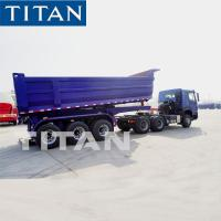 China TITAN 3 Axis 60 Ton Self Unloading Rear Dump Semi Trailer With Hydraulic Jack wholesale