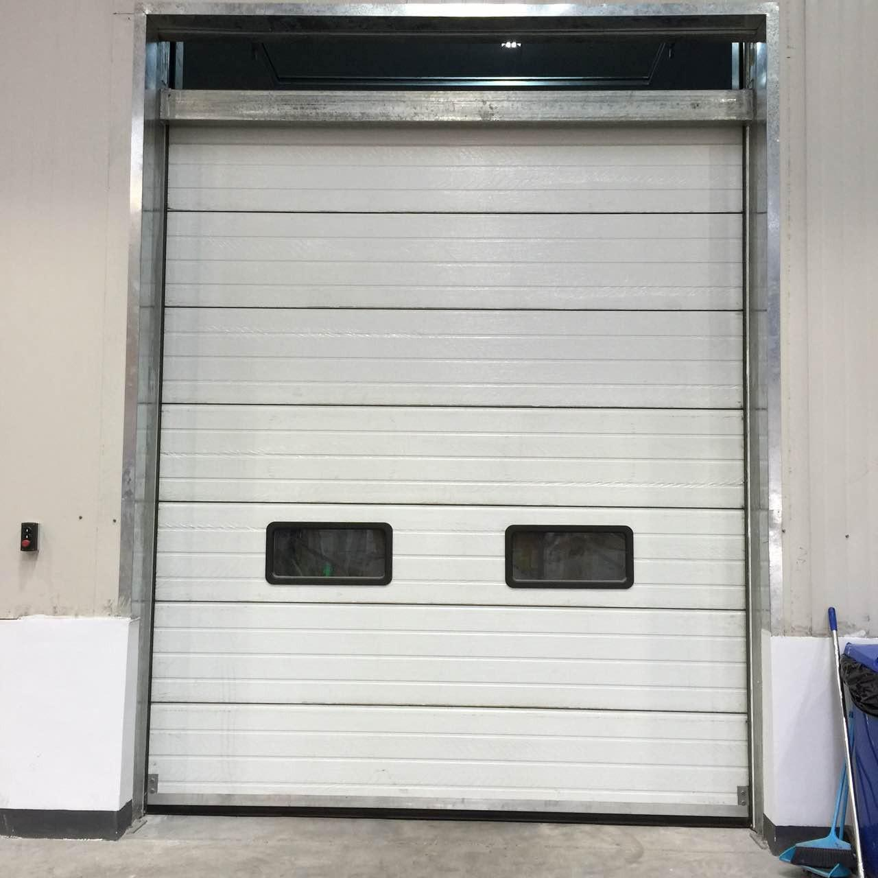 China Fast Vertical Lifting Steel Sectional Garage Doors Closing Speed 0.8m/s wholesale