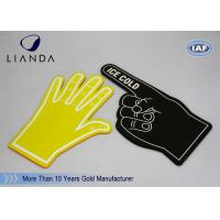 Number One Foam Fingers Hand Blue School Team Spirit with Silk Print