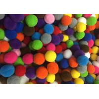China Multicolored Polyester Pom Pom Ball Trim For Apparal / Home Decoration , 2CM Dia wholesale