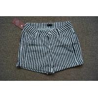 China wholesale F21 fitting short  beach jeans,Forever 21 white & Navy stripes hot pants stock wholesale
