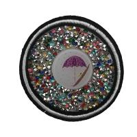 Buy cheap Custom Logo Rhinestone Applique Patches Iron On Backing Fine Workmanship from wholesalers