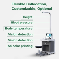 China Touch Screen Terminal Fast Health Check Kiosk With Print Receipt wholesale
