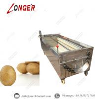 China Brush Roller Potato Washing Machine|Automatic Brush Roller Potato Washing Machine|Brush Roller Cleaning Machine wholesale