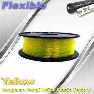 China High Elasticity TPU 1.75mm /3.0mm ,  Flexible Filament For 3D Printing Filament Materials wholesale