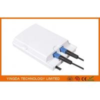 China Fiber Terminal Access Box For FTTH Wall Outlet , Wall Mount 2 Port SC Adapters Flame Retardant wholesale
