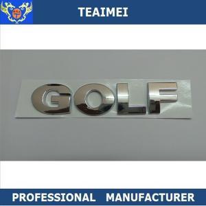 China ABS Plastic Chrome Car Letter Emblems Sticker Car Nameplate CE wholesale