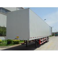 China 20 Tons Flat Panel Cargo Storage Container Dry Van Mechanical Suspension Type wholesale