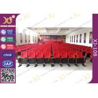 China Movable Folded Church Furniture Chairs Electrostatic Spraying Feet Floor Mounted wholesale