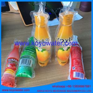 China energy drinks shape sachet packing machine for perfume/KOYO bottle shape pouch packing mac on sale