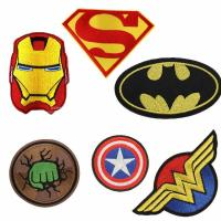 China Eco Friendly Embroidery Woven Cloth Badges Sew On / Iron On Patch Multi Colors wholesale