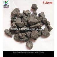 China Brown Fused Alumina withhigh temperature, corrosion for the raw material of  Unshaped refractory, stereotypes refractory wholesale