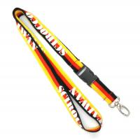 China Three Color ID Card Holder Lanyard With Egg Hook For Company Staff on sale