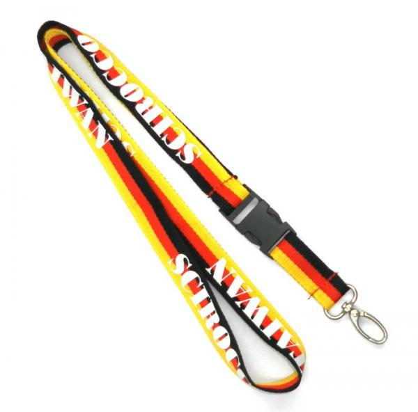 Quality Three Color ID Card Holder Lanyard With Egg Hook For Company Staff for sale