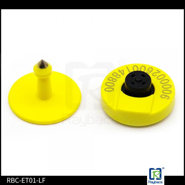 Quality Yellow Colour Electronic Ear Tags / RFID Cattle Gps Tracking Ear Tags for sale