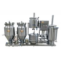 100L Home Microbrewery Equipment , Steam Heated Bar Brewhouse For Wort Processing