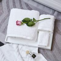China White Hotel Towel Set Hotel Bath Towel Face Towel For Spa Plain Dyed Compressed on sale