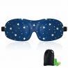 China Woman & Man 3d Sleeping Eye Mask , Total Darkness Travel Eye Mask Free Earplugs wholesale