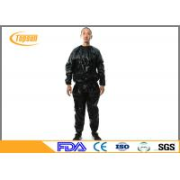 China Transparent PE Sauna Suit To Lose Weight , Disposable Sweating Suits For Workouts wholesale