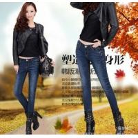 China spring autumn fashion women long jeans wipe cats pencil pants china factory wholesales on sale