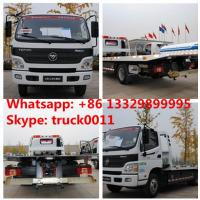 China BEST PRICE FOTON AUMARK road recovery truck tow truck for sale, factory direct sale FOTON 4*2 LHD Flatbed towing truck wholesale