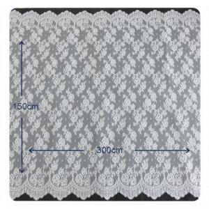 Buy cheap Окаимленный флористический Chantilly Scalloped шнурок, BV/СВОЕ Bridal платье 150 x 300 cm from wholesalers