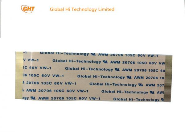 Quality asamblea de cable flexible plateada oro del Pin de la echada 50 de 0.5m m los mismos contactos del lado for sale