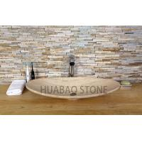 China Grey Small Pedestal Slate Stone Sink Basin Kitchen With Single Faucet wholesale
