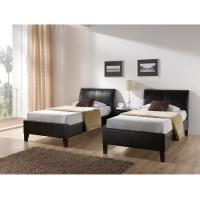 China Gorgeous Modern Leather White bed with Tall headboard in King size wholesale