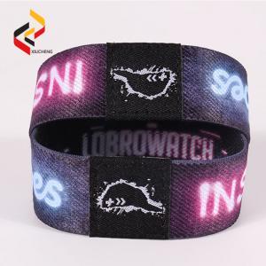 China Reusable custom woven fabric RFID NFC wristband bracelet on sale