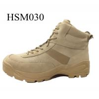 China 5.11 brand quick action abrasion resistant tan side zipper ankle desert boots 6 inch wholesale