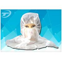 China Soft Breathable Hood Snood Disposable Head Cap in White Blue wholesale