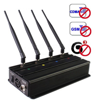 Cell Phone Blocker 20 Meters - 5 Band 75W High Power 3G Cell Phone Signal Jammer(Up to 100 meters)