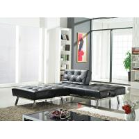 China Living Room Good Quality Black PU Folding Sofa Bed wholesale